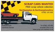 100% FREE SCRAP CAR DISPOSAL IN NORTHAMPTON AND NORTHAMPTONSHIRE