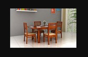 Buy Wooden Extendable Dining Table Set Online - Upto 60% off