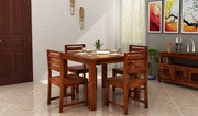 Shop Stylish 4 Seater Dining Table at Wooden Space